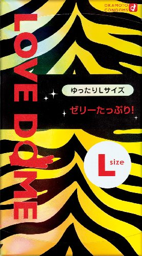 Okamoto LOVE DOME | Condoms | Tiger 12pc (L-size, Extra Jelly) - Love Jelly