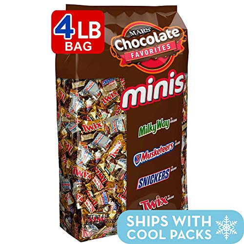 SNICKERS, TWIX, 3 MUSKETEERS & MILKY WAY Minis Size Candy Variety Mix, 240Piece (Bags Bulk Candy)