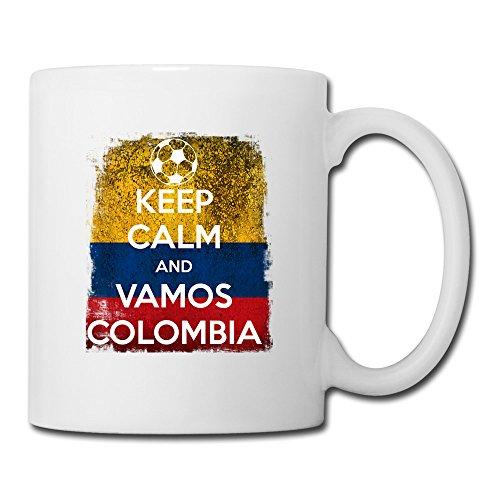 BEDOO Keep Calm Vamos Colombia Coffee Cups White