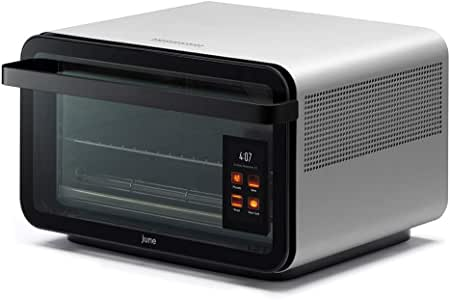 June Life Oven plus Gourmet Package. Do-it-all smart countertop convection oven. Seven appliances in one. Air fryer, slow cooker, dehydrator, convection oven, toaster oven, warming drawer and broiler