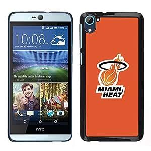 Miami H3at - Baloncesto - Metal de aluminio y de plástico duro Caja del teléfono - Negro - HTC Desire D826