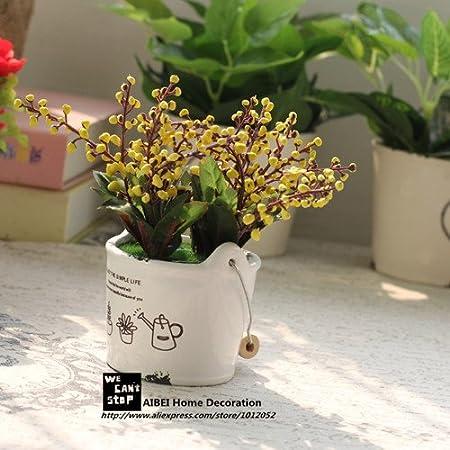 Charmant Lndlich Stil Zakka Keramik Tpfe Pflanz Auspicious Frchte Knstliche Blumen  Bonsai Simulation Grne Pflanzen Home Garten
