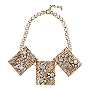 Just Showoff Women's Alloy Rectangle Blocks Necklace