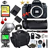Canon EOS 77D DSLR Camera (Body Only) + 256GB Sandisk Memory + 3...