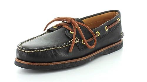 Sperry Top-Sider - Mocasines de cuero para hombre negro negro 40