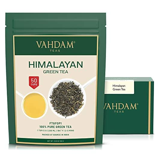 VAHDAM, Green Tea Leaves from Himalayas (50+ Cups) | 100% Natural Tea | Powerful ANTIOXIDANTS | Serve as ICED Tea or…