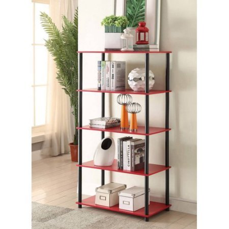 Mainstays No Tools Assembly 8-Cube Shelving Storage Unit, Multiple Colors (Red) (Shelving Red)