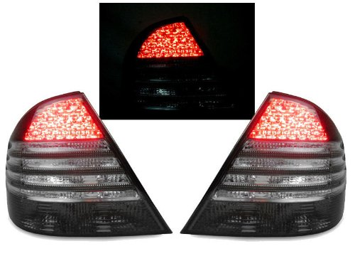 00-06 MERCEDES W220 S430/S500/S55 ALL SMOKED LED TAIL LIGHT W/ CIRCUIT BOARD