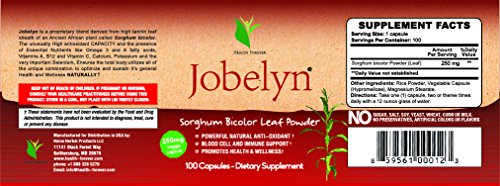 Jobelyn Sorghum Blood Builder Immune Support Supplement (100 Capsules)