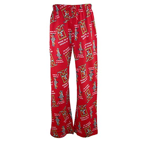 - Just One Women's Knit Novelty Print Pajama Pants, Medium, Red