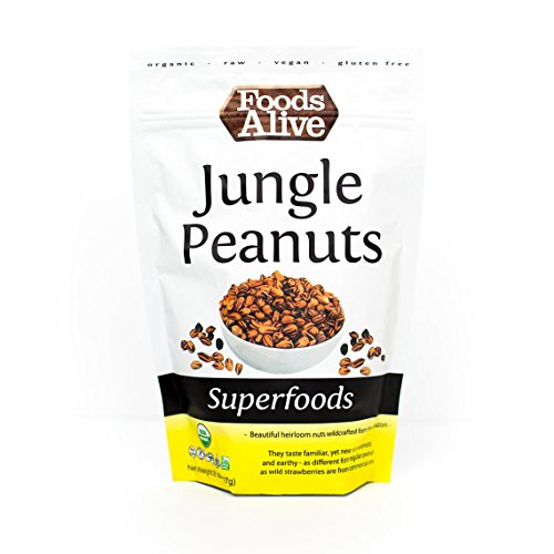 Foods Alive Organic Jungle Peanuts, 8 Ounce  Bags (Pack of 2)
