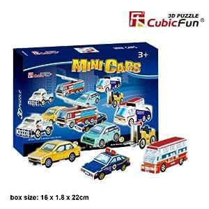 """CubicFun 3D Puzzle S-Serie """"Mini-Coche - 8 rompecabezas"""""""