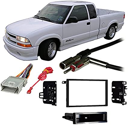car stereo 2003 s10 wiring diagram amazon com compatible with chevy s 10 pickup 03 04 double din  chevy s 10 pickup 03 04 double din