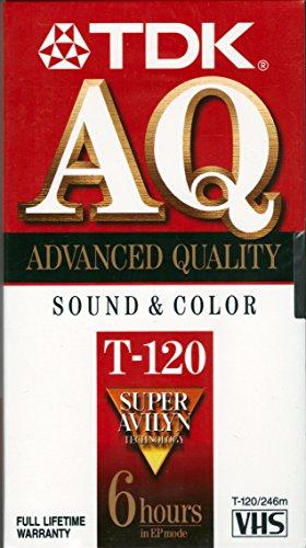 Tdk Video Tape T120 2 - 4 - 6 Hr. Peggable