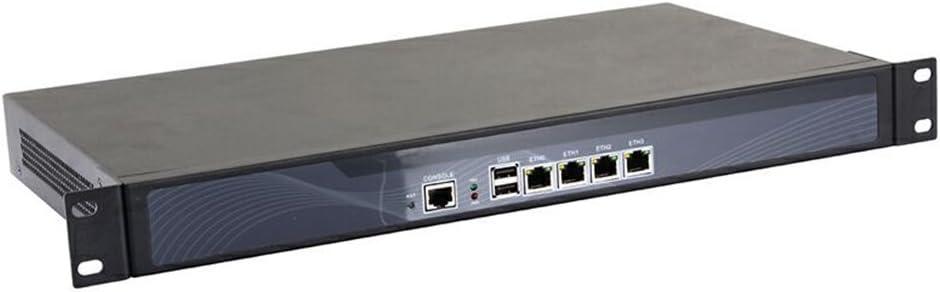 6 Intel Lan//2USB2.0//1COM//1VGA Network Security Appliance,with AES-Ni,Router PC,Intel Celeron 3855u, 1U Rackmount RS06, 8G RAM//128G SSD Mikrotik Gray VPN Pfsense , HUNSN Firewall