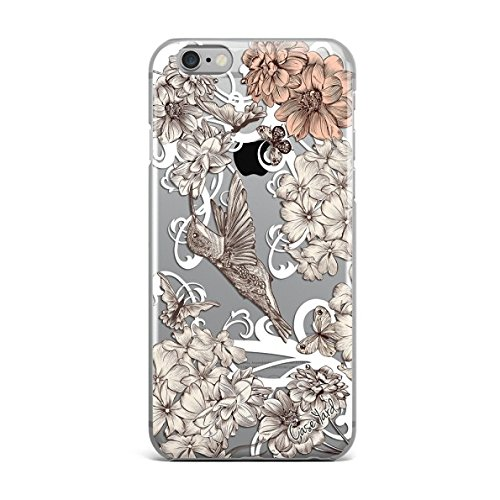 iPhone 7 Clear Case Ultra Thin TPU Cover Protective case for Apple iPhone 7 (Clear) - Vintage Hummingbird