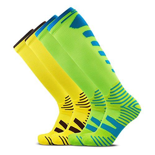 SocksDaze Mens Sports Long Tube Performance Hiking Baseball Basketball Soccer Knee High Socks 2/3 Pairs