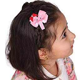 12 Bulk Small Barrette Hair Bows Alligator Clips for Baby Child Giftbox LCLHB