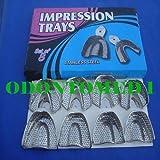 10 Dental Impression Trays Set Perfo Denture Instruments