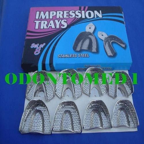 10 зубных слепков Лотки Набор PERFO зубных протезов инструменты