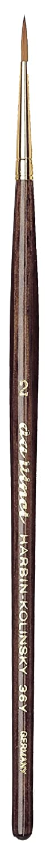 Da Vinci Harbin Kolinsky Rotmarderpinsel, rund, mit anthrazitem Sechskantstiel, Dunkelbraun, 18.5 x 0.15 x 30 cm