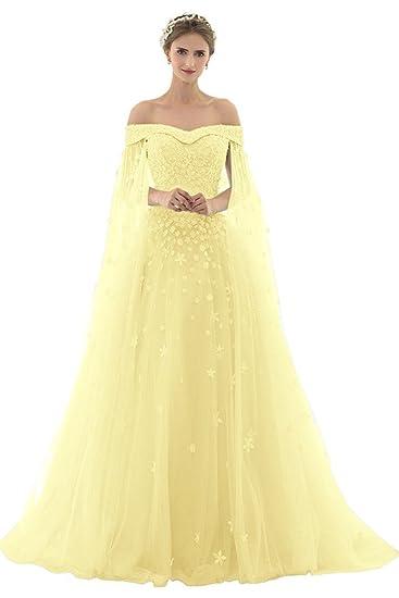 the best attitude a0fe4 d8c45 AZNA Damen Prinzessin Spitze Abendkleider Ballkleid Partykleid  Hochzeitskleider Lang mit Schleppe