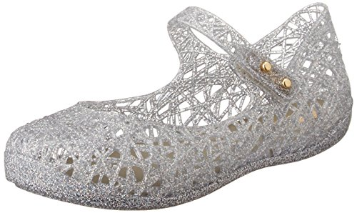 Mini Melissa Girls Mixed Silver Glitter Mary Janes shoes 21 Silver by MELISSA