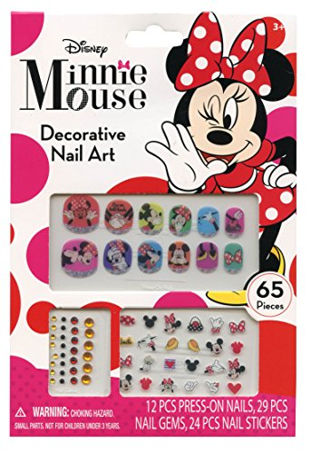 Diy Disney Character Costumes (Disney Minnie Mouse Bowtique 65 Piece Decorative Nail Art Kit)