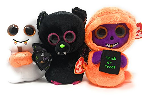 TY Beanie Babies Halloween Regular Sized TY Bundle includes Scream, Dart, and Skelton