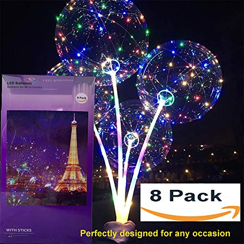 - LED balloons Latest design! 20 inches - 8 pack with 8 sets 3 modes colorful Fairy LED strings inflatable with Helium
