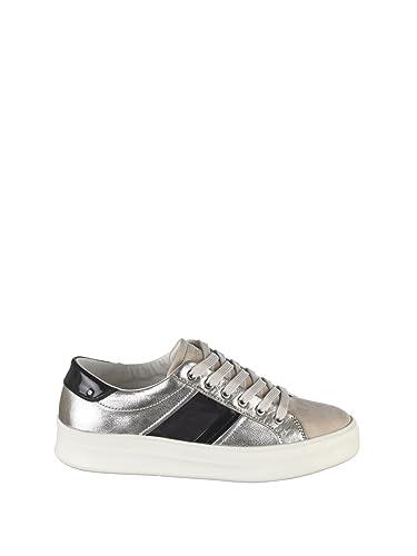 Damen 2562026 Silber/Beige Leder Sneakers Crime London Günstig Kaufen Auslassstellen Günstig Kaufen Wahl Großer Rabatt Freies Verschiffen Neuestes ZeNeEbKC