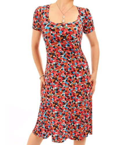 Blue Banana Women's Printed Tea Dress Red Spotty US Size 14