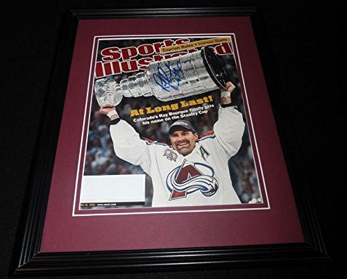 Ray Bourque Signed Framed Full 2001 Sports Illustrated Magazine Avalanche B - JSA Certified - Autographed NHL (Ray Bourque Framed)