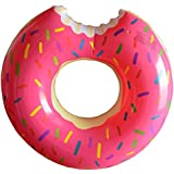 Fasmov Donut Pool Float, Gigantic Pink Donut Inflatable, Pink