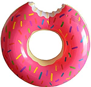 Fasmov Donut Pool Float, Gigantic Pink Donut Inflatable, Pink
