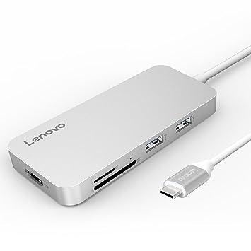 Lenovo USB C Hub Type C Hub Adapter 3.1 con USB C de Carga HDMI, 2