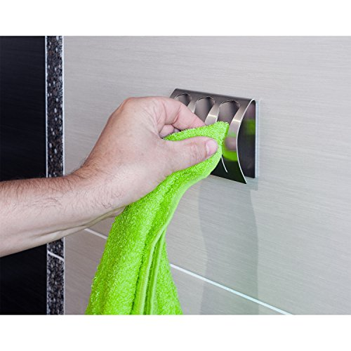 tatkraft bell handtuchklemme handtuchklemmleiste bad und k che stark selbstklebend edelstahl. Black Bedroom Furniture Sets. Home Design Ideas
