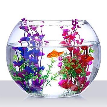 """SStaste Plantas Artificiales acuáticas Plantas Acuario Plantas Plantas Plástico Decoración pecera 7,5"""" ..."""
