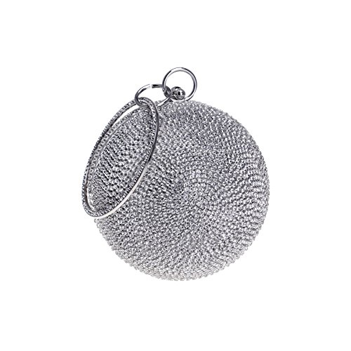 5 America Ladies Europe Women's Spherical 3 HKC Bag Bag Evening Diamond encrusted Diamond Dinner And Handmade Color ZwwXYx