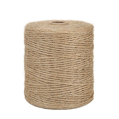 Ply Hemp 3 (Tenn Well Natural Jute Twine, 3Ply 984Feet Arts and Crafts Jute Rope Industrial Packing Materials Packing String For Gifts, DIY Crafts, Decoration, Bundling, Gardening and Recycling)