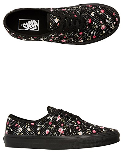 B DOTS Floral FLORAL Black Mujer Authentic VANS Dots Black wqS870F