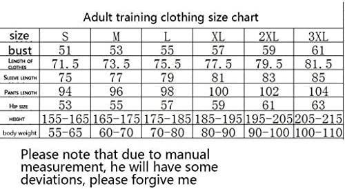 TD Fußball-Trainingsanzug Verein Adult-Jugend-Sweatshirt Langarm-Jogging BreathableTop Und Hosen-Anzug Zweiteiliger Anzug Q70004 (Size : M)