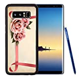 Liili Premium Samsung Galaxy Note8 Aluminum Backplate Bumper Snap Case Retro holiday background with pink roses and ribbons Vector illustration Photo 18960043 Recommended with Reviews