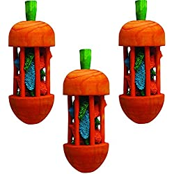 (3 Pack) Super Pet Carousel Chew Toy Carrot, Large