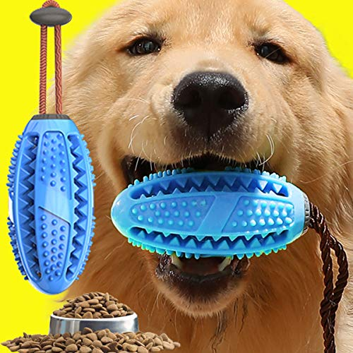 Fansun Dog Toothbrush Chew Toy – Interactive Dog Food Treat Dispensing Toy for Small Puppy Dog – Reduce Boredom IQ Training Teeth Cleaning