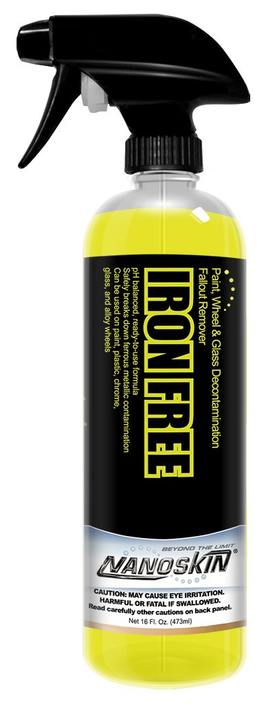 Nanoskin (NA-IFE16) Iron Free Paint, Wheel And Glass Decontamination Fall Out Remover - 16 oz.
