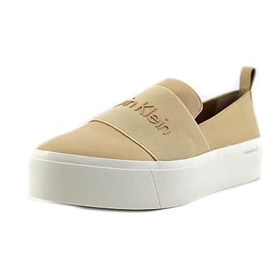 ebe8355d687775 Calvin Klein Womens Jacinta Low Top Slip On Fashion, Sandstorm, Size 5.0