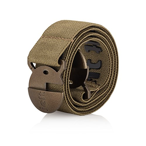 Strong & Invisible Elastic Stretch Belt | Eco-Friendly For Women and Men by Jelt | Khaki Green