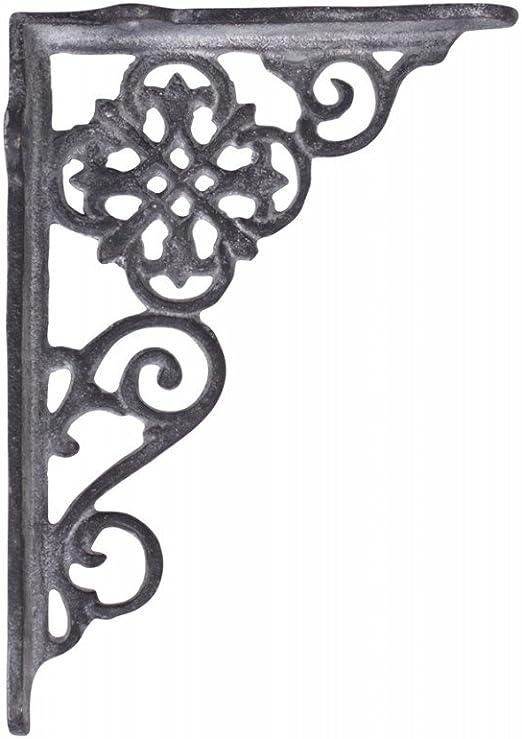 Regalbodenträger Regalwinkel Regalhalter Gusseisen vintage shabby 17 x 12 black