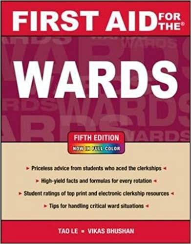 First aid for the wards fifth edition first aid series first aid for the wards fifth edition first aid series 9780071768511 medicine health science books amazon fandeluxe Choice Image